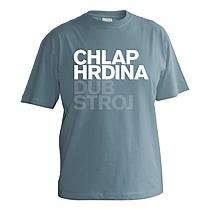 Eegantné tričko s krátkymi rukávmi pre chlapcov sivo modré s bielym nápisom chlap, hrdina, dub stroj, vzory podľa mužského rodu z bavlny