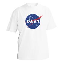 Chlapčenské tričko z bavlny s krátmi rukávmi pre každého obdivovateľa Nasa, Space X a Elona Muska s potlačou loga NASA v ktorom je napísané Dá Sa