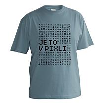 Veselé sivo modré chlapčenské bavlnené tričko s krátkymi rukávmi s čiernou potlačou smajlíkov v nízkom rozlíšení a nápisom je to v pixli